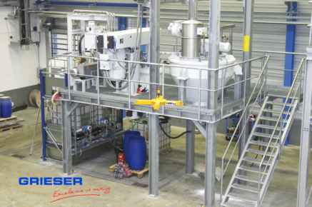 GRIESER Production Unit dosing, dispersing, filling