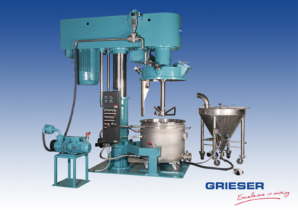 GRIESER Butterfly-Mixer BFMVA 900 Ex-design incl. Fluidisation Vessel FB 400 M