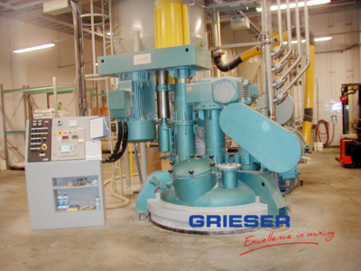 GRIESER Threesahft Mixer with Dissolver and Oscillation
