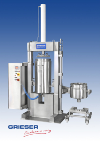 GRIESER Extraction device APV 40 and 110 HS in pharmaceutical version